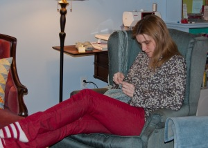 Me, crocheting.