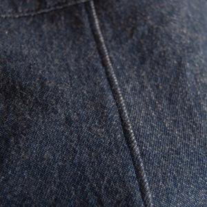 A pretty, flat, top-stitched serged seam.