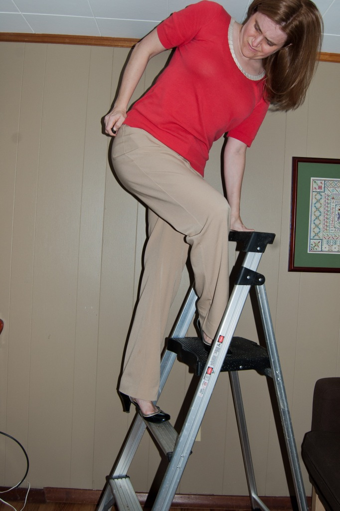 Here is me, climbing the corporate ladder in my snazzy new pants.