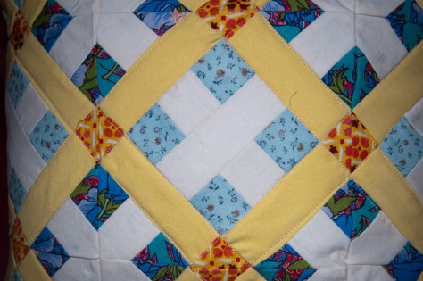 Finished block. You can see how it wouldn't really work if the inner squares and rectangles were thinner than the outer ones.