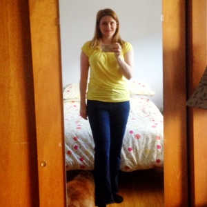 Day One: Butterick t-shirt, Jalie jeans