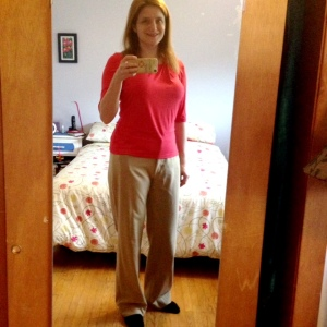 Day 11: Back to work. StyleArc Emily top again and another pair of their Jasmine pants.