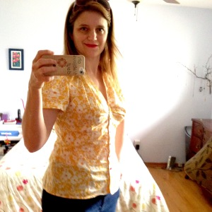 Yellow Vogue blouse in Liberty lawn.