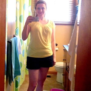 That yellow t-shirt again. Do I never wear anything else? Or maybe I just don't photograph myself in anything else? OH MY GOD. I WILL NEVER FIGURE MYSELF OUT.