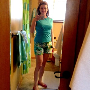 Thank god there's yellow in these shorts. I can only take so many upsets to my newly emerging Theory of Andrea.