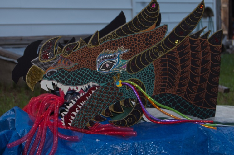 The head of the dragon costume, which should give you some idea. It lights up.