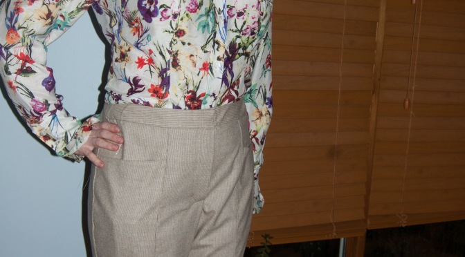 StyleArc Katherine pants v. 2.0: alpaca flannel
