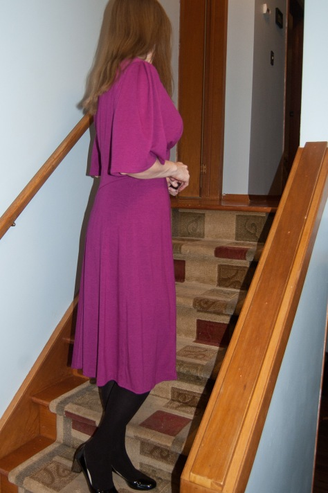 The Side. Plus invisi-pleats at the shoulder.